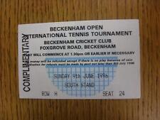 09/06/1996 BIGLIETTO DA TENNIS: beckenham torneo open internazionale [a beckenham