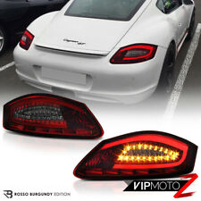 "For 05-08 Porsche 987 Boxster Cayman S ""FiBeR OpTiC"" Red Smoke LED Tail Lights"