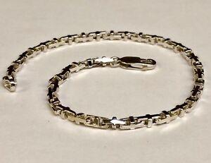 """10k Solid White Gold Anchor Mariner Bullet Link  Bracelet 3.1 MM 8 grams  7"""""""