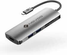 NOVOO USB C Hub with PD Power Delivery, 6 in 1 USB Type C Adapter with 60W PD