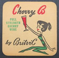 Ancien Sous-bock bière CHERRY B by BRITVIC 1 beermat coaster Bierdeckel 13