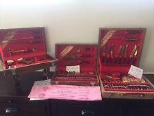 Vintage Bronze Rosewood Sounvenir Dinner Flatware Set with Wooden Cases Set 57