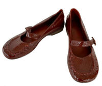 CLARKS Red Patent Leather Mary Jane Flat Low heel Shoes 5.5 Uk / 38.5 EU / b1