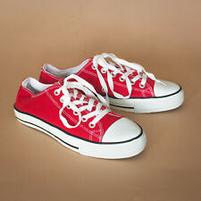Vintage Converse All Star Sneakers Low Red Trainers Unisex UK 7.5 EUR 41 US 9.5