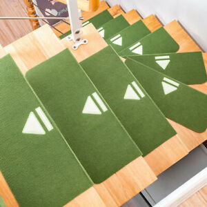 4pcs Adhesive Non Slip Staircase Area Rugs Washable Stair Carpet Arrow Pattern