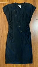 Vintage 80's All That Jazz Sheath Black Dress