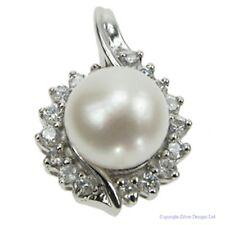 Colgante plata circonita y perla con cadenilla ZDP1447