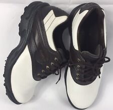 FootJoy Golf Shoes Size 9.5 W Mens GreenJoys White Brown Saddle Oxfords