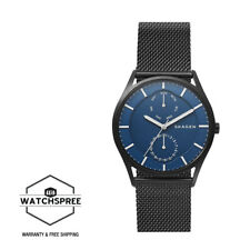 Skagen Men's Holst Black Steel Mesh Multifunction Watch SKW6450