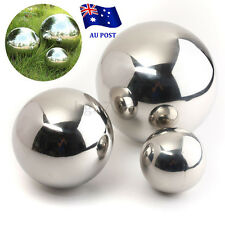 Stainless Steel Mirror Sphere Polished Hollow Ball 9/13.8/18cm Garden Ornament E