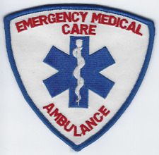 **EMERGENCY MEDICAL CARE AMBULANCE FIRE PATCH**