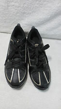 CHAMPION Black Leather TENNIS Bike SHOES SZ 10 MEN'S USED SILVER ATHLETIC