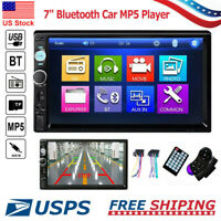 """7"""" 2 Din HD 1080P Touch Screen Car FM/MP5 Player Bluetooth Stereo Radio In-Dash"""