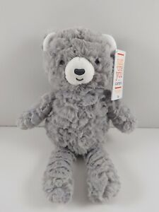 """NWT Carters Just One You Gray Bear Plush Target Stuffed Baby Lovey Toy 67752 11"""""""