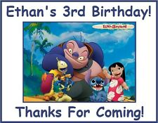 """(18)Personalized Lilo and Stitch Party Stickers,3 1/4"""",Birthday Favors Bag Label"""