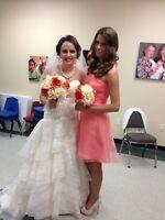 davids bridal wedding dress size 4 Style WG3525 (includes bridal Veil)