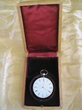 Aiguilles 4 Rubis Echappement Cylinder French Pocket Watch 1889? Not Working