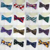 36 Colors Man's Self Tied Bow Tie silk Paisley Plaids Tuxedo Bowtie Wedding Ties