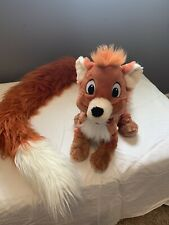 "Disney Parks Todd Fox and the Hound Plush Stuffed Animal 43"" Long Fluffy Tail"