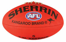 Sherrin 4251 AFL Replica PVC Football, Size 5 - Red