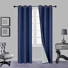 INSULATED FOAM LINED THERMAL BLACKOUT PANEL WINDOW CURTAIN 1PC NAVY BLUE