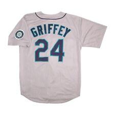 Ken Griffey Jr Majestic Seattle Mariners Grey Road Jersey w/ Team Patch Large