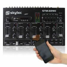 Skytec STM-2290 Mixer a 6 Canali Bluetooth USB SD MP3 FX PER DEEJAY CONSOLLE