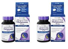 Natrol Advanced Sleep Melatonin Maximum Strength 10 mg, 60 Tablets-2 Pack
