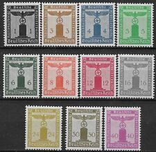 Germany 3rd Reich Mi# 144-154 Official Stamps Issued 1938 MH *