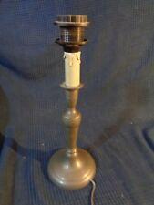 pied de lampe en etain ancien style louis vintage