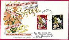 Scarce 1963 Malaya/ Straits Settlements/ Singapore World orchid Conference FDC