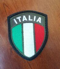 Patch Toppa Stemma Ricamato Scudetto Italia cm 6x7,5 cm. Con Velcro cucito
