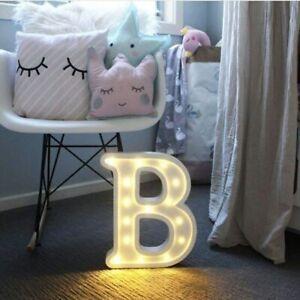 Lettere Luminose A LED Luci Notturne Alfabeto Inglese Numero Lampade Famiglia