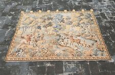Vintage French Hunting Scene Tapestry 154x110cm (A840)