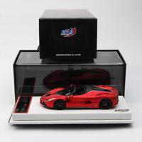 BBR 1:43 Scale Ferrari LaFerrari Aperta 2016 Matt Red F1 2007B Car Model Limited