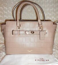 AUTH COACH EMBOSSED CROCODILE BLAKE CARYALL BAG WITH DUSTBAG BNWT $ 750.00