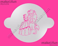 Beauty and Beast Cake Stencil, Airbrushing Cookie Stencil, Schablone