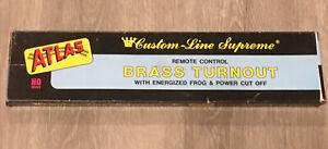 Atlas No. 253 #6 Left Turnout Switch Brass HO Gauge NEW