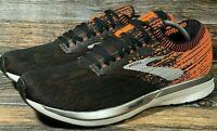Mens Brooks Ricochet Running Shoe Black Orange Blue 1102931D038 New