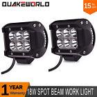 2X 4Inch 18W Cree LED Light Bar SPOT Off road SUV ATV UTE Truck 4X4 Boat Pods
