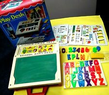 New ListingVintage Fisher Price 1981 #176 Play Desk w/All Letters,Numbers & Stencils Mib
