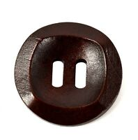 10Pcs Wooden Buttons Sewing Scrapbooking Round Button 2 Holes Crafts DIY 30mm