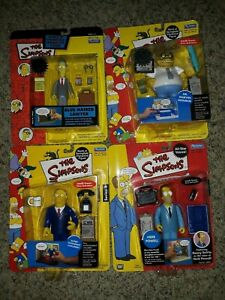 """Lot of 4 PLAYMATES THE SIMPSONS 5"""" INTELLITRONIC ACTION FIGURE"""