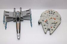 Star Wars 1996 LFL LGT Minature X-Wing Fighter & Millenium Falcon