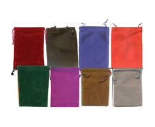 6 pack Velveteen Pouches Drawstring Gift Jewelry Bags (Select Color/Size)