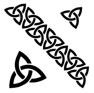 Celtic Chain Stencil, Reusable, A4/A5/A6