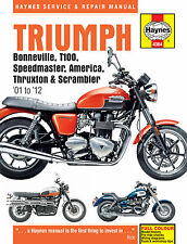 Triumph Bonneville T100 Speedmaster Thruxton 2001-15 Haynes Manual 4364 NEW