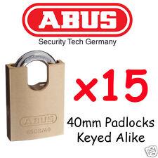 Padlocks KEYED ALIKE ABUS 40mm concealed Shackle BULK LOT High quality x15 Locks