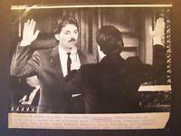 AP Wire Press Photo 1989 David Duke Sworn in Louisiana House of Representatives
