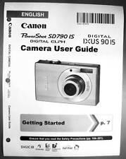 Canon Powershot SD790 IS IXUS 90 IS  Digital Camera User Guide Manual